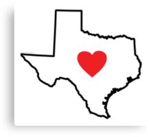 I Love Texas Canvas Print