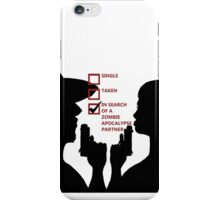 Zombie Survival Partners Collection (with text) iPhone Case/Skin