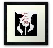 Zombie Survival Partners Collection (with text) Framed Print