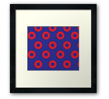 Phancy Red Circles Framed Print