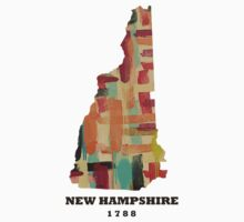 new hampshire state map Kids Clothes