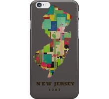 new jersey state map iPhone Case/Skin