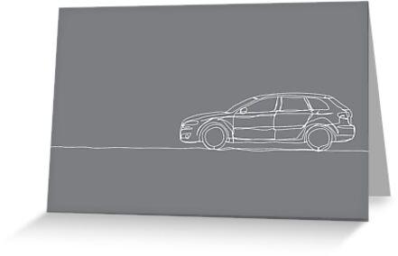 Audi A3 - Single Line by douglaswood
