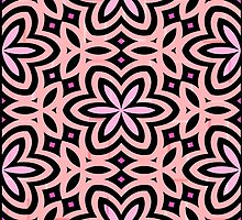 Pink and Black Floral Graphic - 1 of 2 (see description) by Ra12