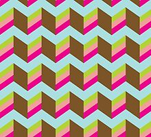 Chevron  pattern piece of cake by o2creativeNY