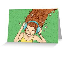 Summer, music and relax Greeting Card