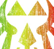 Rasta Triforce Sticker