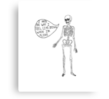 Joyce Manor Skeleton Design Canvas Print