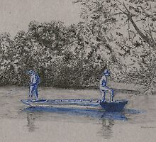 Blue boys fishing by Francisco  Neto