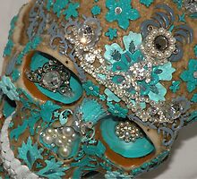 Teal Gem Skull by Rita  H. Ireland