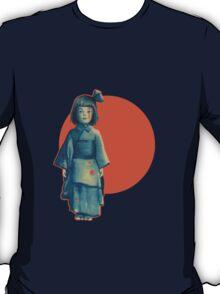 little girl in blue T-Shirt
