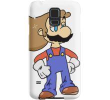 Mario with Glorious Hair Samsung Galaxy Case/Skin