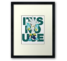 """It's No Use!"" SFW Version Framed Print"