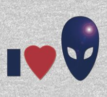 I Love Aliens - I Heart Alien T-shirt, UFO Space Sticker, Sweater, Top, Case by deanworld