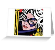 Girl Power: Black Cat Greeting Card