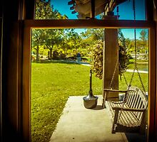 THROUGH THE WINDOW AT COX ARBORETUM by pjm286