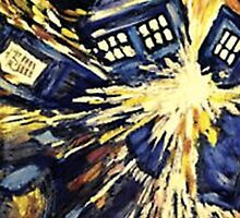 Doctor Who- TARDIS Explosion by howellecki