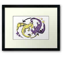Spiraling Dragons Framed Print