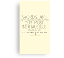 magic words Canvas Print