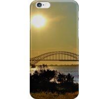 Summer Sunset Over Robert Moses Beach Bridge iPhone Case/Skin