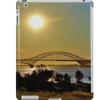 Summer Sunset Over Robert Moses Beach Bridge iPad Case/Skin