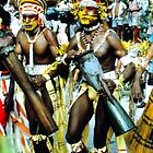 dancers, Papuan Day show, Port Moresby by Margaret  Hyde