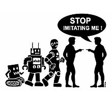 Funny robot evolution Photographic Print
