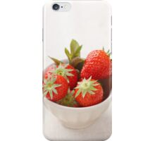 Strawberries in a bowl iPhone Case/Skin