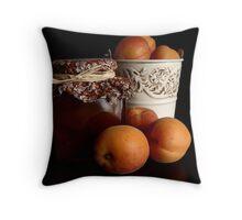 Apricot Jam Still Life Throw Pillow