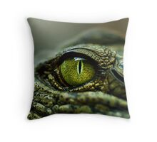 Eye of the Crocodile [Print & iPad Case] Throw Pillow