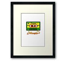 Reggae Tape Design Framed Print