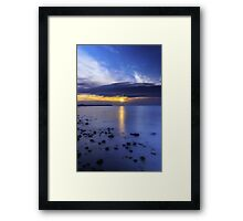 Oceanside Sunset Framed Print