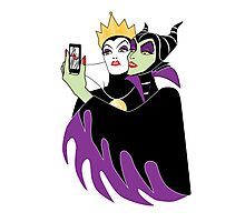 Grimhilde & Maleficent Selfie Photographic Print