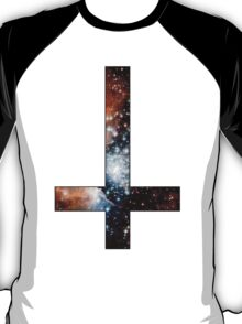 Red Galaxy Inverted Cross T-Shirt