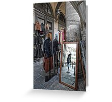 The Mirror - Johnny's ... Florence,  Italy Greeting Card