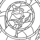 Stained Glass Rose White by rapplatt