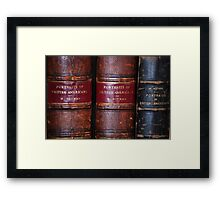 19th Century Books/Notman/Photography Framed Print