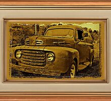 Momma's Ford ... with a matted and framed look by © Bob Hall