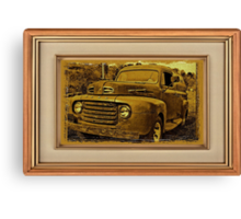 Momma's Ford ... with a matted and framed look Canvas Print