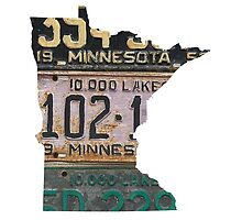 Vintage Minnesota License Plates by Maren Misner
