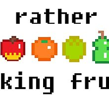 I'd Rather Be Picking Fruit- Animal Crossing Inspired by livikun
