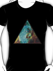 Green Galaxy Triangle T-Shirt