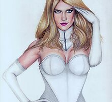 Emma Frost Portrait  by Matt  Simas