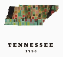 tennessee state map Kids Clothes