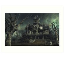 The Haunted House Art Print
