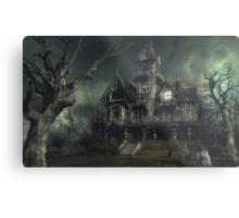 The Haunted House Metal Print