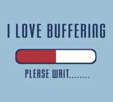 Buffering Please Wait T-shirt - Application File Loading by deanworld