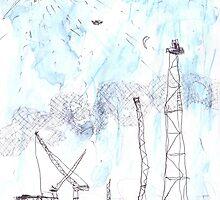 Preparing the Dismantling of the Hammerhead Crane in Woolloomooloo by John Douglas