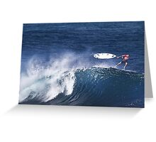 Michel Bourez At Billabong Pipe Masters In Memory of Andy Irons 2011 Greeting Card