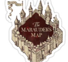 Harry Potter Marauder's Map Logo Sticker